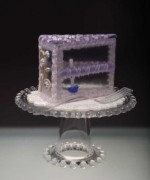 """Bluebird On a Pedestal"" Cake Slice"