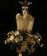 """Bronze Floral"" Hanging Chandelier Dress"