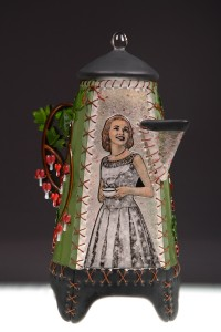 """Bleeding Heart"" Coffee Pot"
