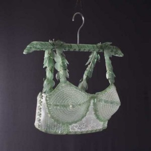"""Eve's Penance"" Brassiere on Hanger"