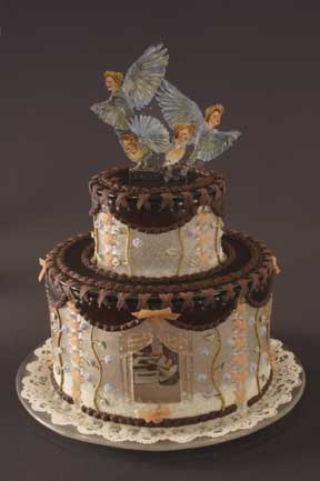 """Setting Free the Bluebirds of Happiness"" Cake"